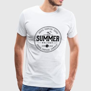 Happy Tropical Sunny Summer - Men's Premium T-Shirt