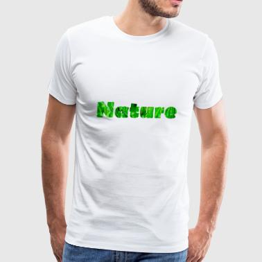 Nature Waterdrops on fresh Grass - Men's Premium T-Shirt