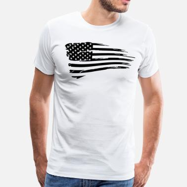 American Flag Vintage American Flag Tactical Subdued - Men's Premium T-Shirt
