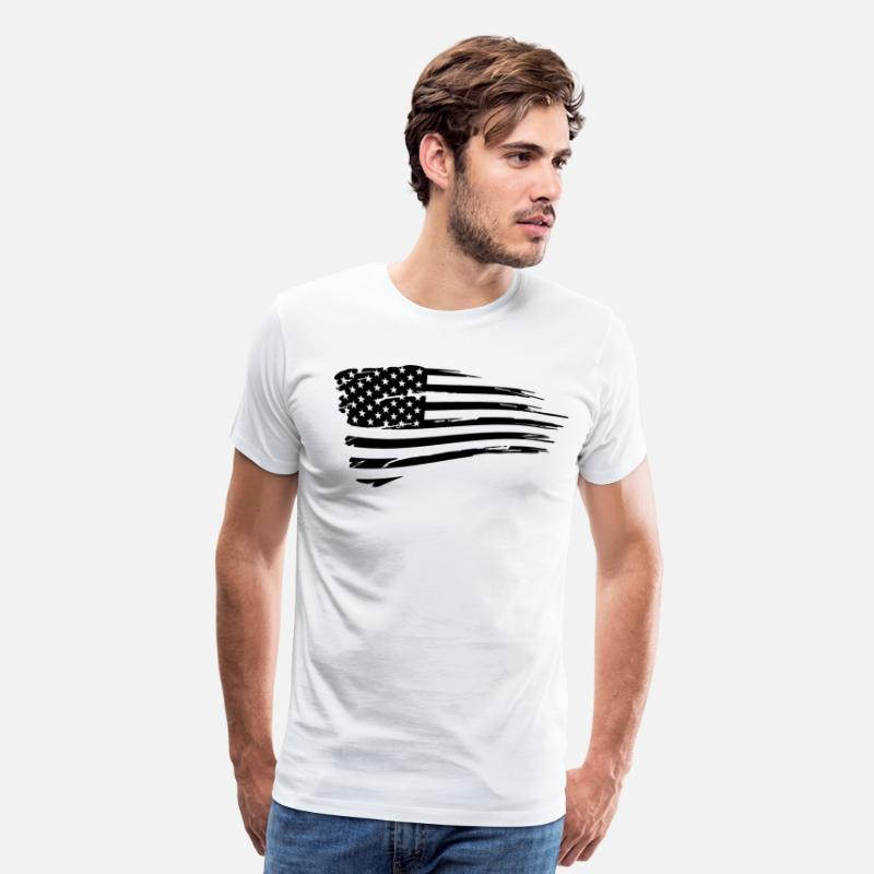 American T-Shirts - Vintage American Flag Tactical Subdued - Men's Premium T-Shirt white