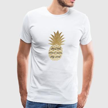 Glitter Pineapple - Men's Premium T-Shirt