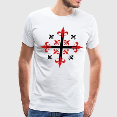 02 Cross of the Musketeers God Jesus Christ - Men's Premium T-Shirt