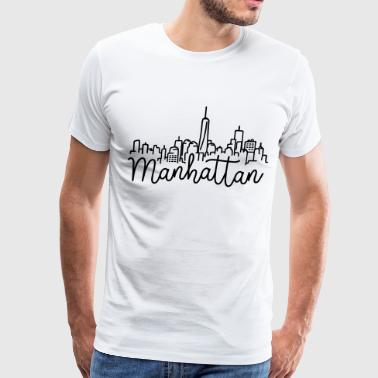Manhattan Skyline - Men's Premium T-Shirt