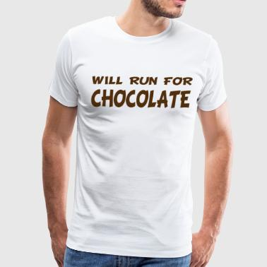 Will Run for Chocolate - Men's Premium T-Shirt