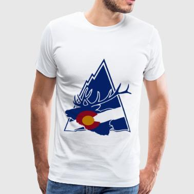 Colorado Elk Mountain White Colorado - Men's Premium T-Shirt