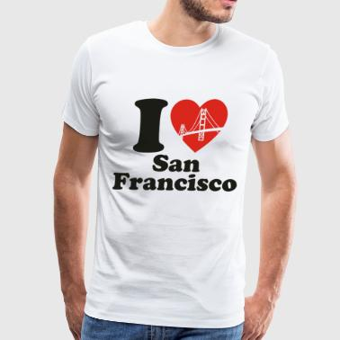 I Love San Francisco - Men's Premium T-Shirt