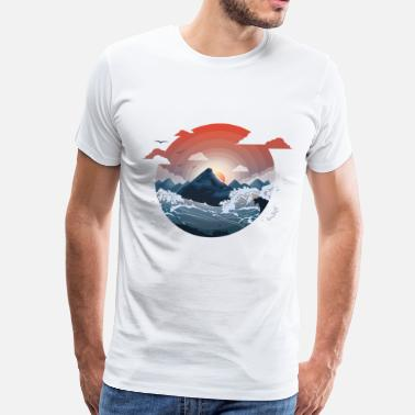 Surrounded by storm - Men's Premium T-Shirt