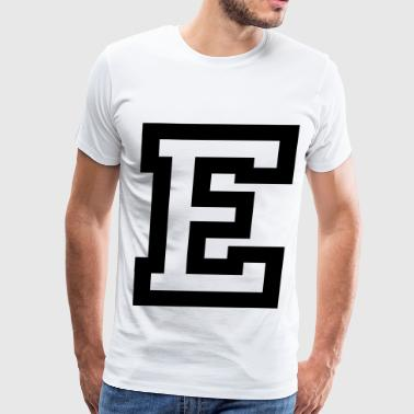 Big E Letter E - Men's Premium T-Shirt