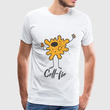 Cell-Fie the cell with camera - Men's Premium T-Shirt