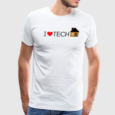 I Heart Tech-House Dark - Men's Premium T-Shirt