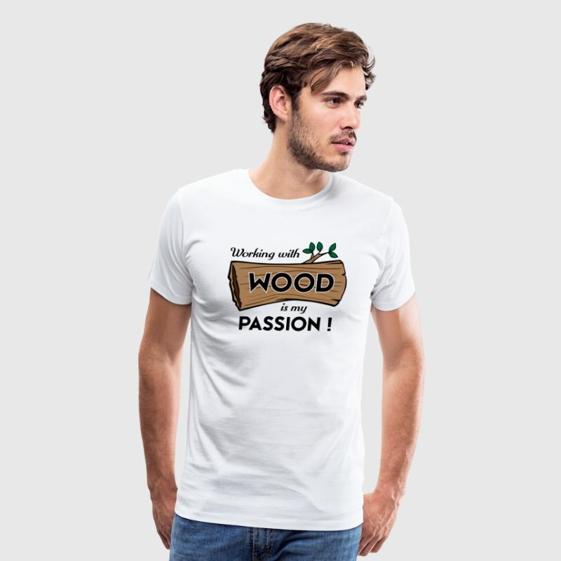 Passion-Design Wood | FP eqz - Men's Premium T-Shirt