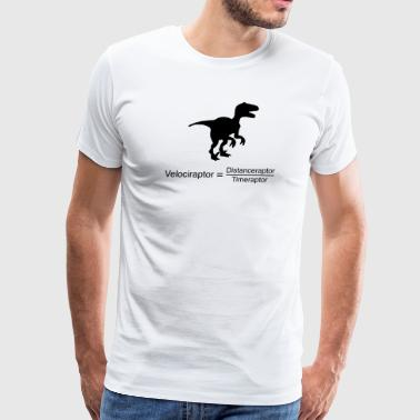 velociraptor equation - Men's Premium T-Shirt