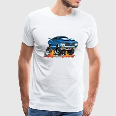 Car Tires Classic American Muscle Car Hot Rod Cartoon - Men's Premium T-Shirt
