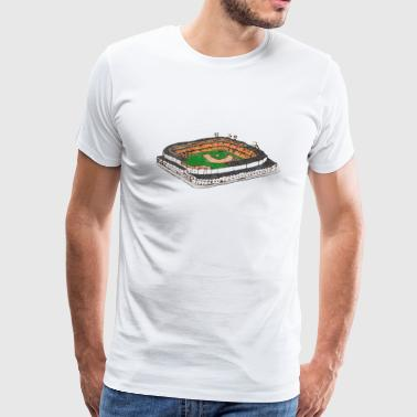 Classic Retro Tiger Stadium The Corner - Men's Premium T-Shirt