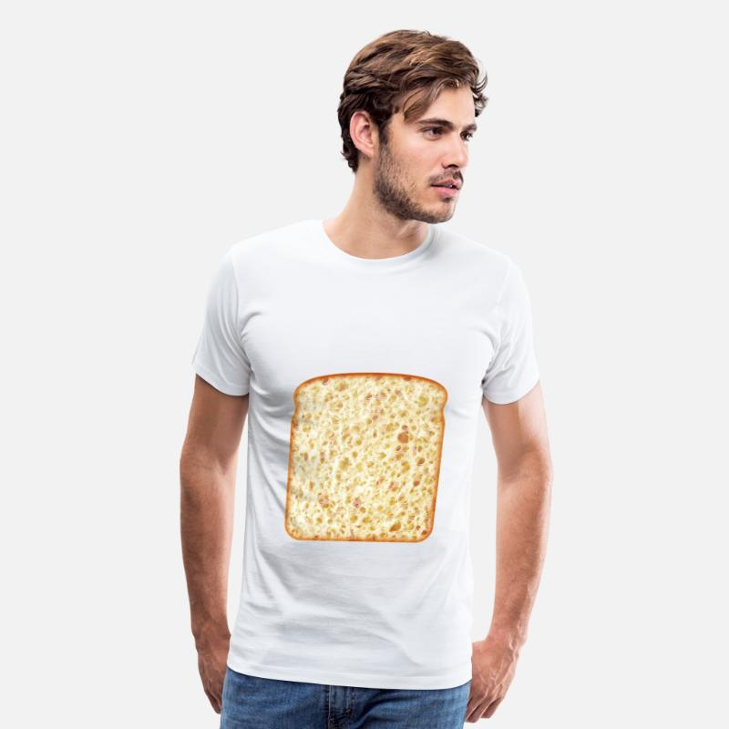 Baking T-Shirts - a piece of bread - Men's Premium T-Shirt white