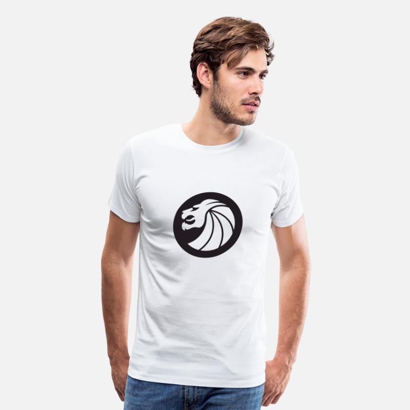 Seven T-Shirts - Seven Lions Signature - Men's Premium T-Shirt white