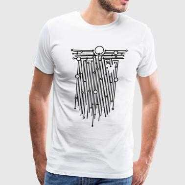 Wired heart - Men's Premium T-Shirt
