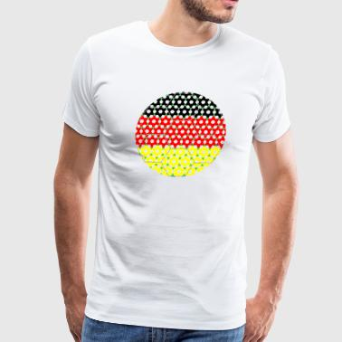 Soccer Flag Germany - Men's Premium T-Shirt