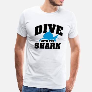 Dive Sharks Dive with the shark - Men's Premium T-Shirt