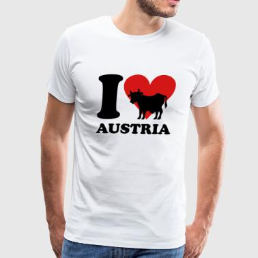 I Love Austria Cow - Men's Premium T-Shirt