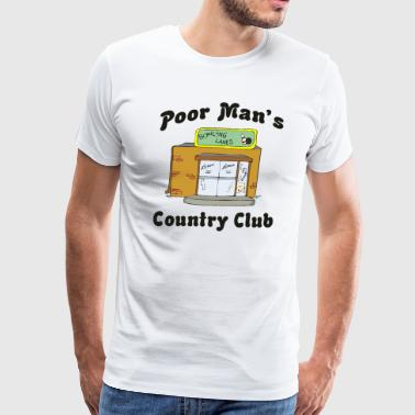 Alley Bowling Alley - Poor Man's Country Club - Men's Premium T-Shirt