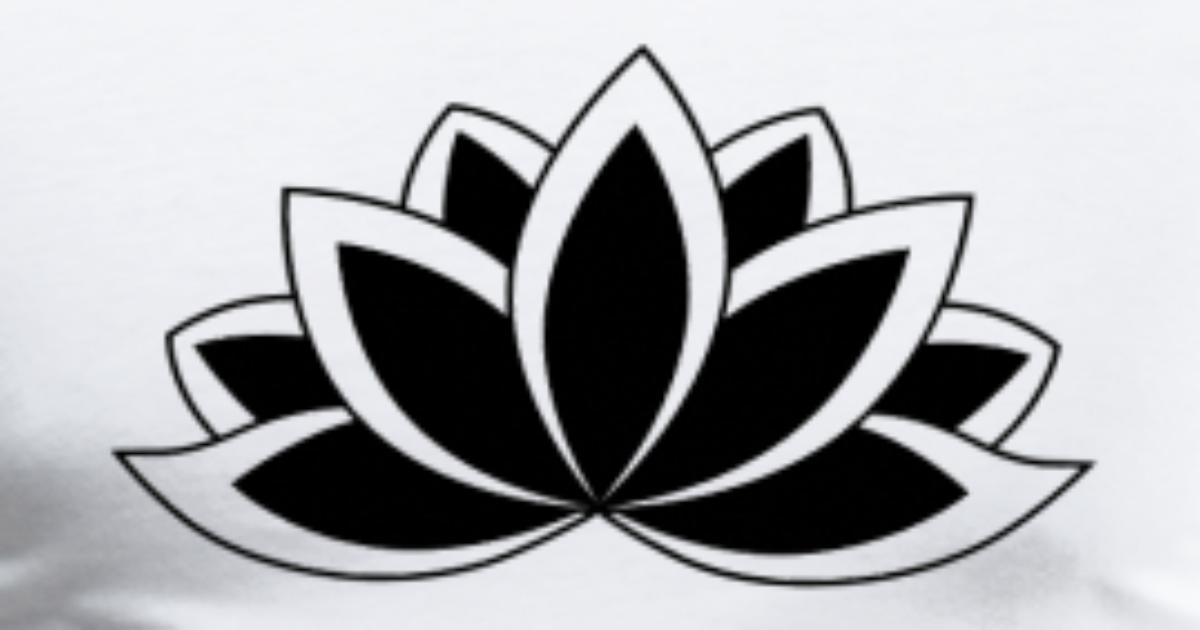 Black And White Buddhist Symbol Lotus Flower By Dimkadnb Spreadshirt