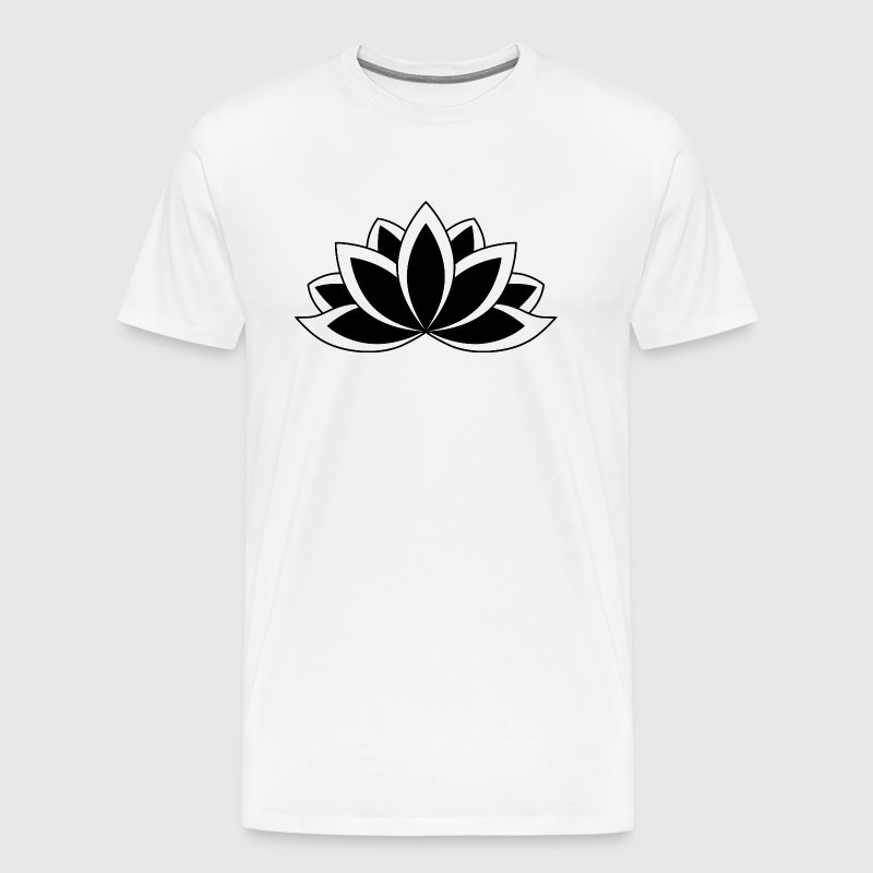 Black and white buddhist symbol lotus flower by dimkadnb spreadshirt black and white buddhist symbol lotus flower mens premium t shirt mightylinksfo