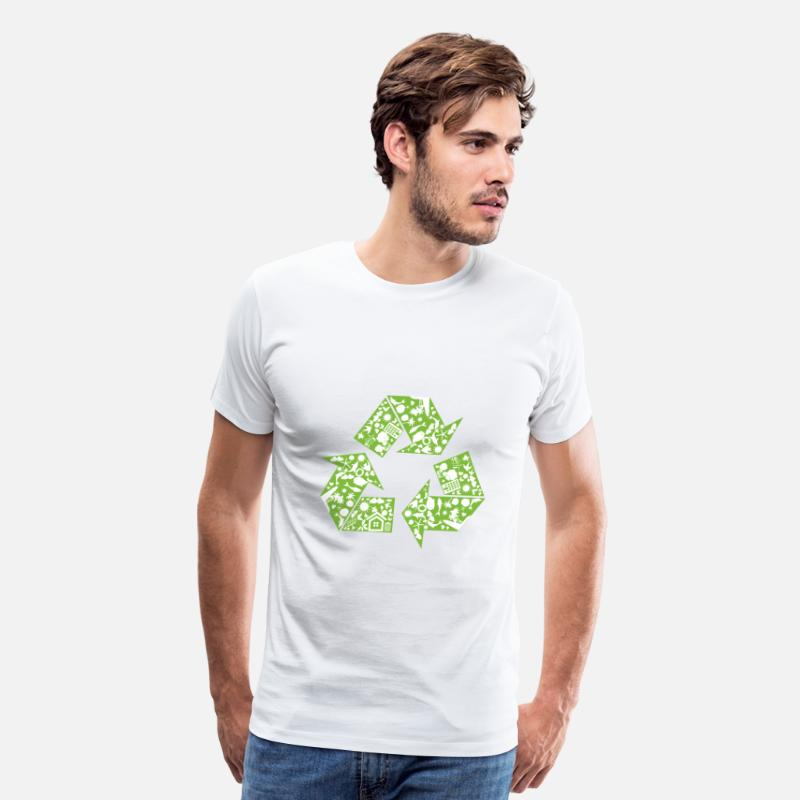 Earth Day T-Shirts - Recycle - Men's Premium T-Shirt white