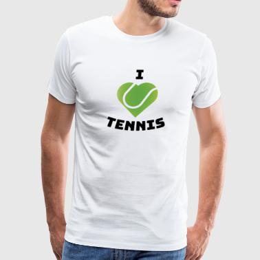 I love Tennis Gift Tennis Player Fan Men Women Kid - Men's Premium T-Shirt