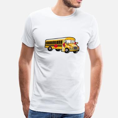 School Bus Love Yellow School Bus Driver T-shirts - Men's Premium T-Shirt