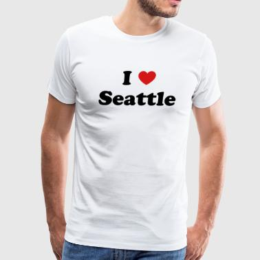 I Love Seattle I love Seattle - Men's Premium T-Shirt