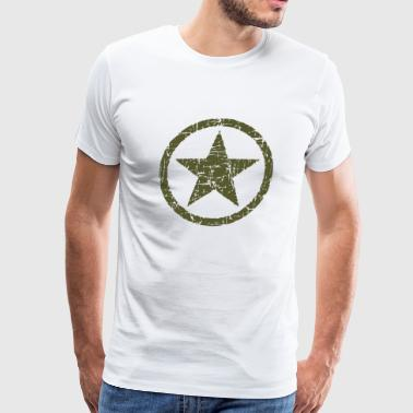 Green Army Star Vintage Army Star - Men's Premium T-Shirt