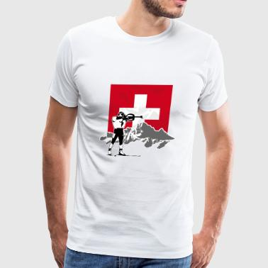 Biathlon - Swiss Flag - Men's Premium T-Shirt