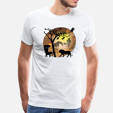 Safari Animal Safari African Jungle Wild Animals t-shirts - Men's Premium T-Shirt