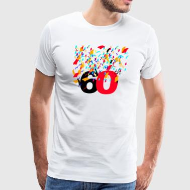 60th Celebrating,Anniversary,Birthday T-shirt  - Men's Premium T-Shirt