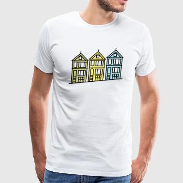 Painted Ladies San Francisco Painted Ladies Logo Shirt - Men's Premium T-Shirt