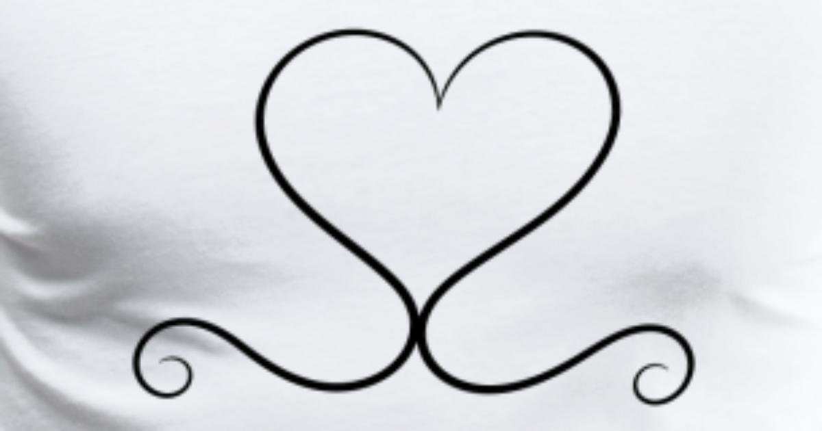 Curved Lines That Form A Heart As A Symbol Of Love By