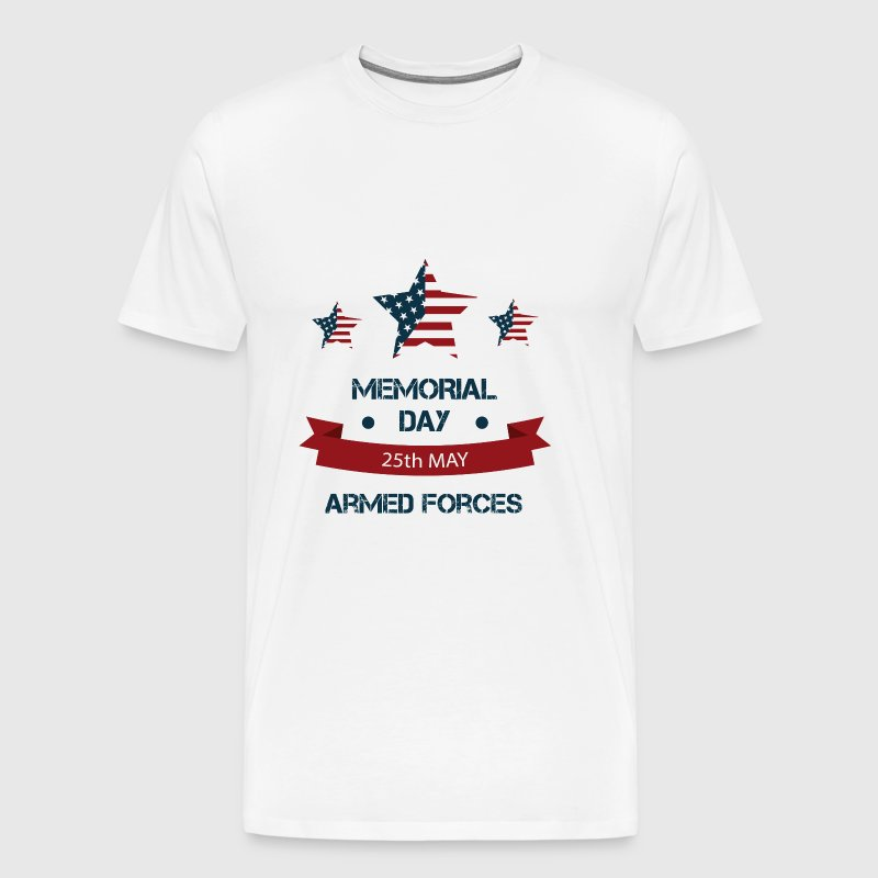 US Memorial Day - Honoring all who served. - Men's Premium T-Shirt