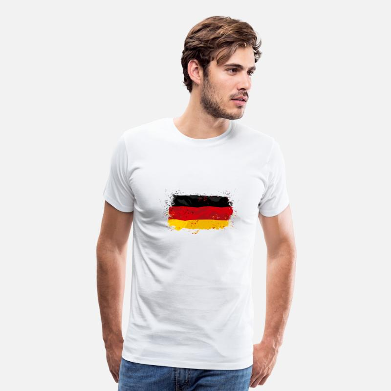 Flag T-Shirts - German Flag - Men's Premium T-Shirt white