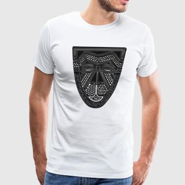 African Art - Mask - Tribal - Men's Premium T-Shirt