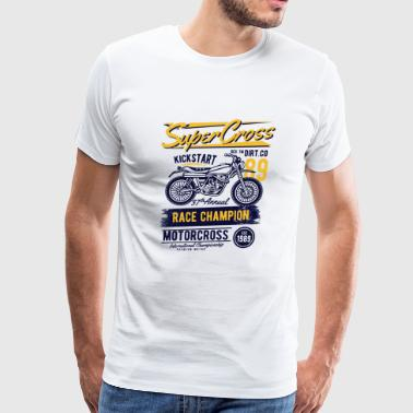 Supercross - Race Champion Motorcross - Men's Premium T-Shirt