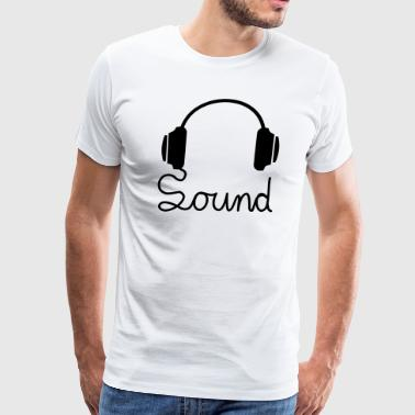 headphone - Men's Premium T-Shirt