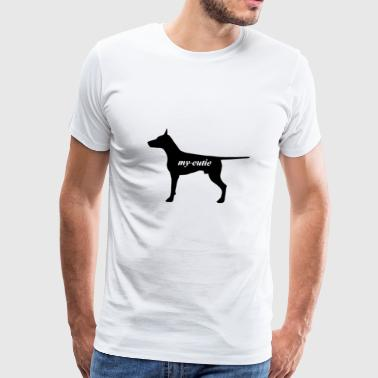 Cute dog present - Men's Premium T-Shirt