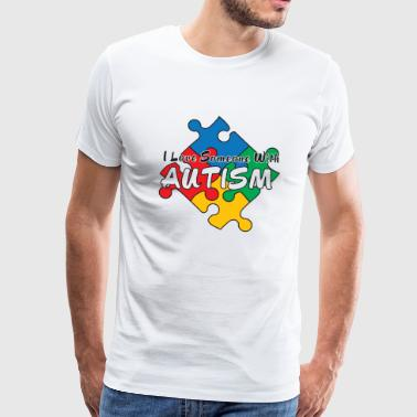 I Love Someone Autistic I Love Someone with Autism - Men's Premium T-Shirt