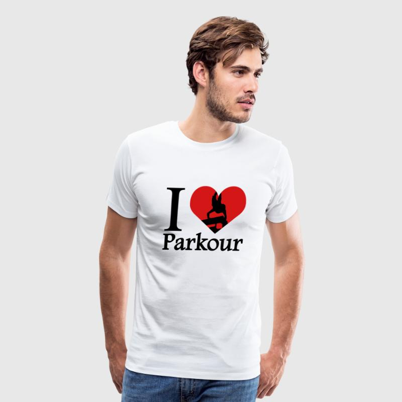 I love Parkour / I heart Parkour Traceur - Men's Premium T-Shirt