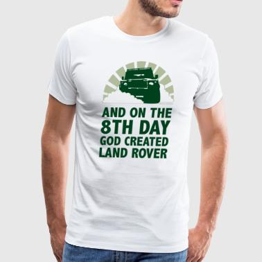 God Created Land Rover - Men's Premium T-Shirt