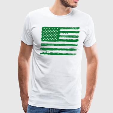 Denizen Free Denizens Legalize It US Cannabis Flag - Men's Premium T-Shirt