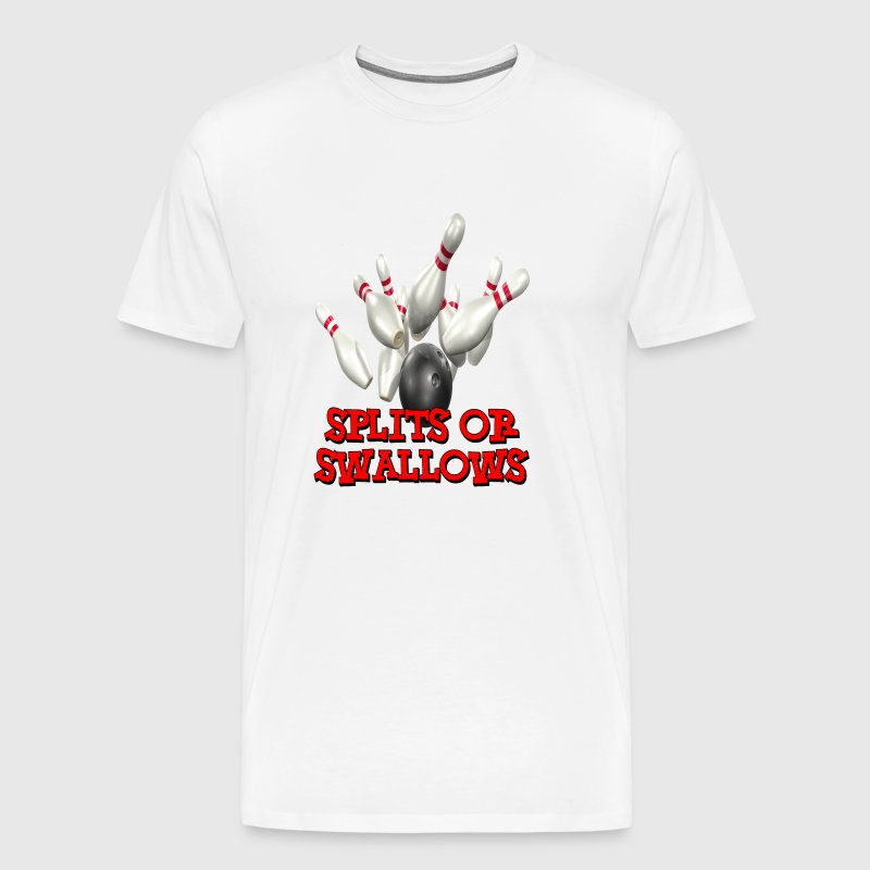 Bowling Team Splits or Swallows - Men's Premium T-Shirt