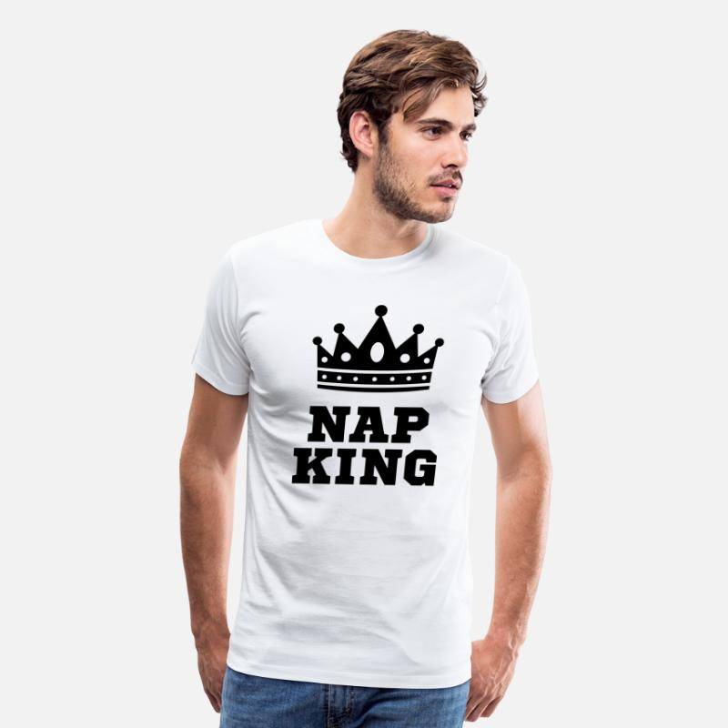 Antisocial T-Shirts - Nap King - Men's Premium T-Shirt white