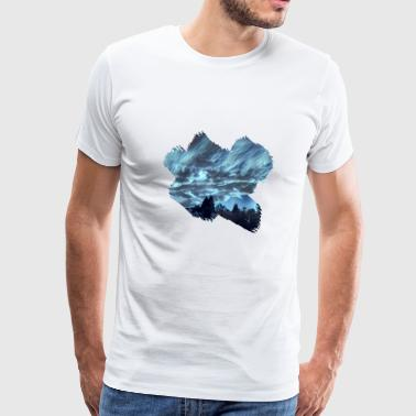Night Sky Cloudy Sky - Men's Premium T-Shirt